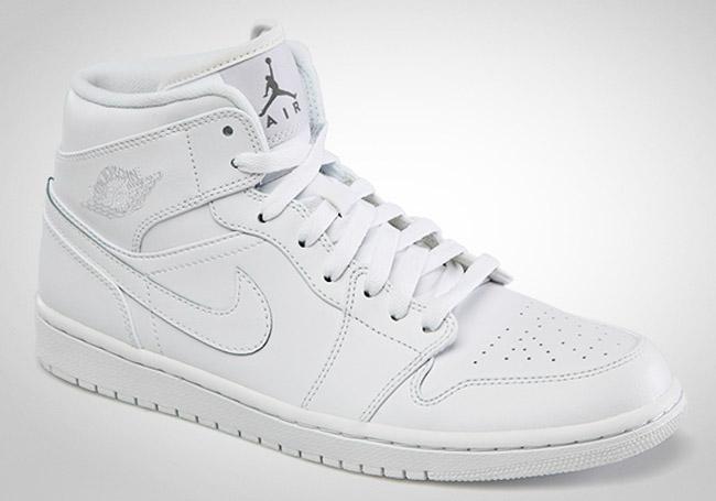 all white air jordans