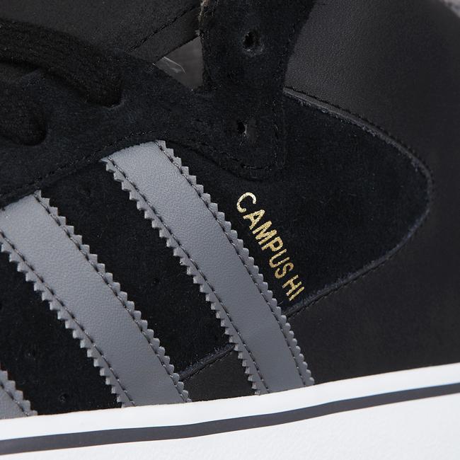 reputable site c94e4 2447e adidas Skateboarding Campus Vulc Mid   Black, Grey   Gold