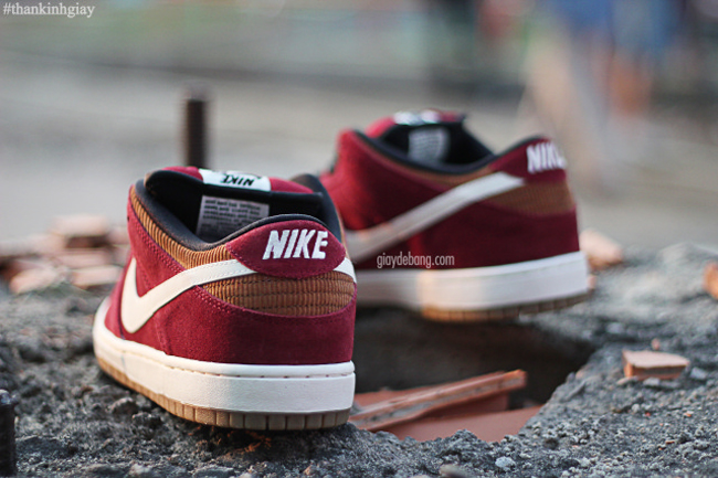 Nike SB Dunk Low | Burgundy, Tan Corduroy & Gum