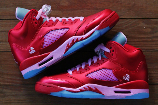 100% authentic 02d08 6e674 ... Valentine s Day Gym Red Ion Pink Air Jordan V (5) Retro Girls (GS) ...