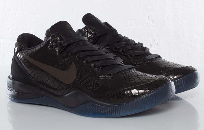 "the best attitude 29deb b3bb4 ... YOTS BLACK MAMBA BLACK BLACK-METALLIC SILVER Nike Zoom Kobe 8 EXT  ""Year of the Snake†Black Mamba ..."