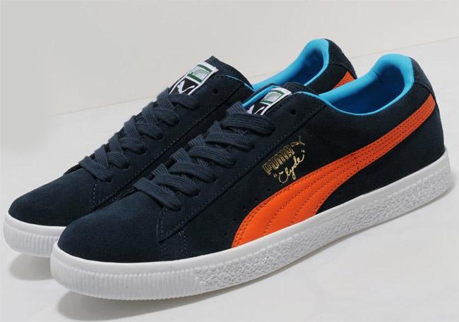 best website 6acff 1934d Puma Clyde | Navy, Poppy Red & Blue - OG EUKicks Sneaker ...