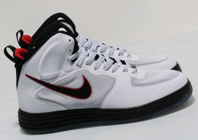 Nike Lunar Force 1 Mid Fuse | White, Black & University Red