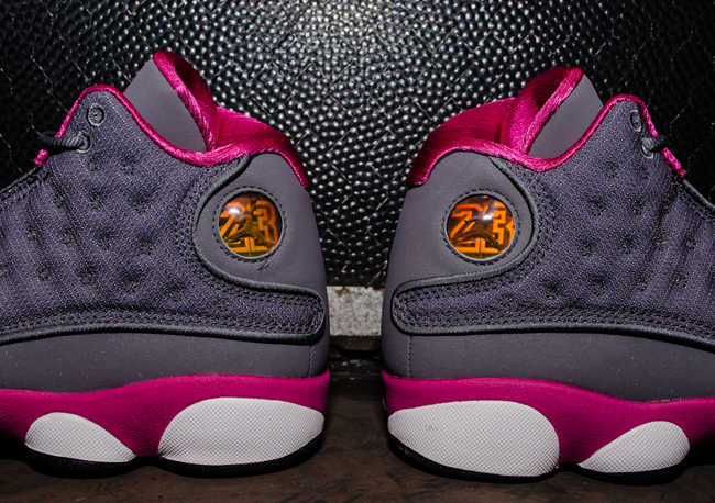 "Detailed Images: Air Jordan 13 Retro GS ""Cool Grey & Fusion Pink"""