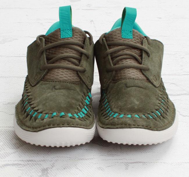 Nike Solarsoft Moccasin  Premium  Woven | Tarp Green & Sport Turquoise