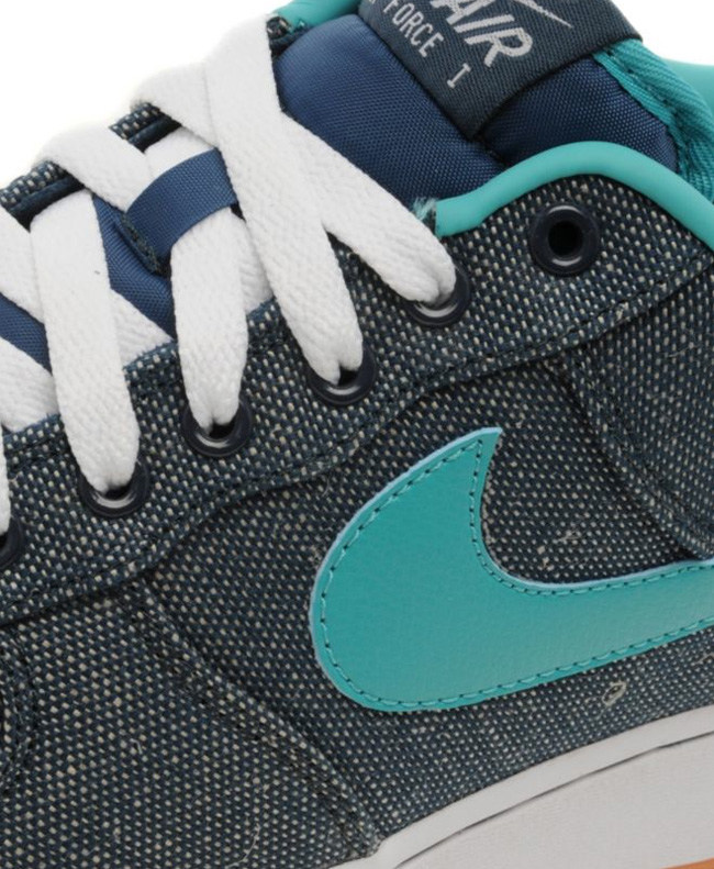 save off 8a645 949e9 ... Nike Air Force 1 Low Canvas Squadron Blue Turquoise ...