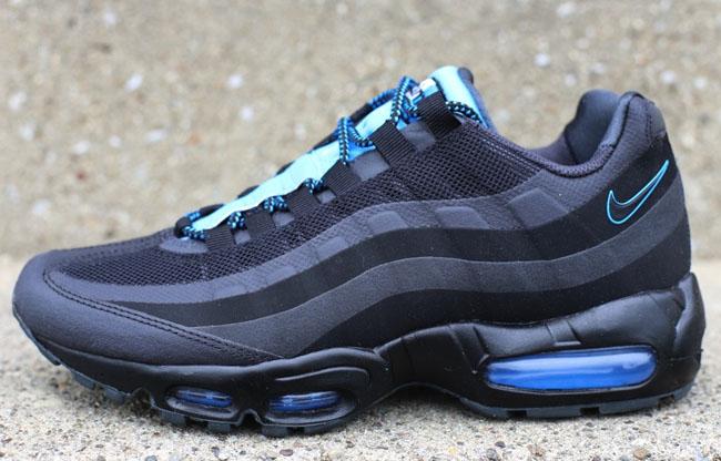 Nike Air Max 95 No-Sew   Black, Grey & Blue