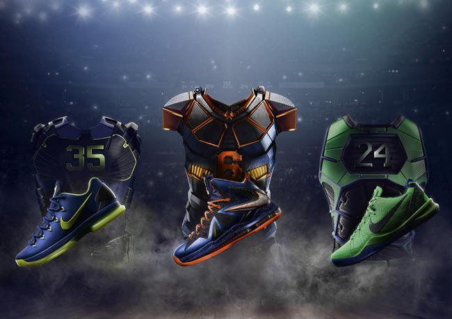 "buy popular 03923 abe69 Europe Release: Nike Basketball ""Superhero†Pack   Kobe, LeBron & KD"
