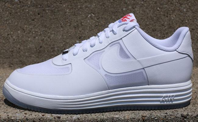Nike Lunar Force 1 Fuse Suede Black White