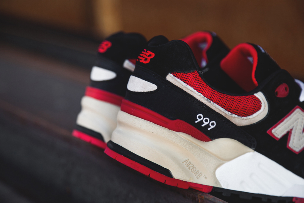 new balance 999 elite edition in black and red
