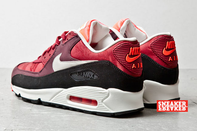 Nike Air Max 90 Talons En Daim Rouge