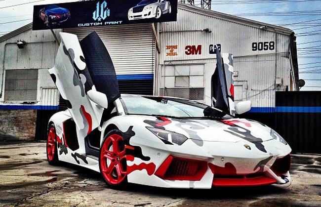 Lamborghini Aventador X Foamposite One Fighter Jet X Chris Brown