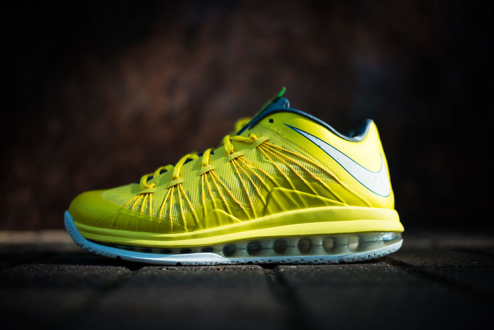 Hot Sale Nike Air Max Lebron X Low Sonic Yellow Sail-Cool Grey-T