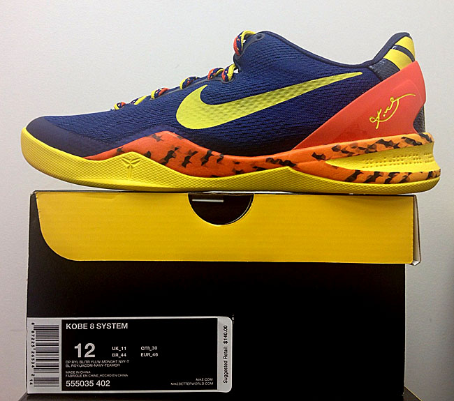 buy popular 958d6 45a7c Kobe 8 System Deep Royal BlueTeam Orange-Mid Navy-True Yellow . ...