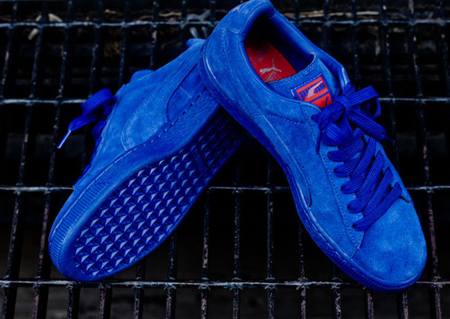 finest selection d41a2 397df puma suede all blue