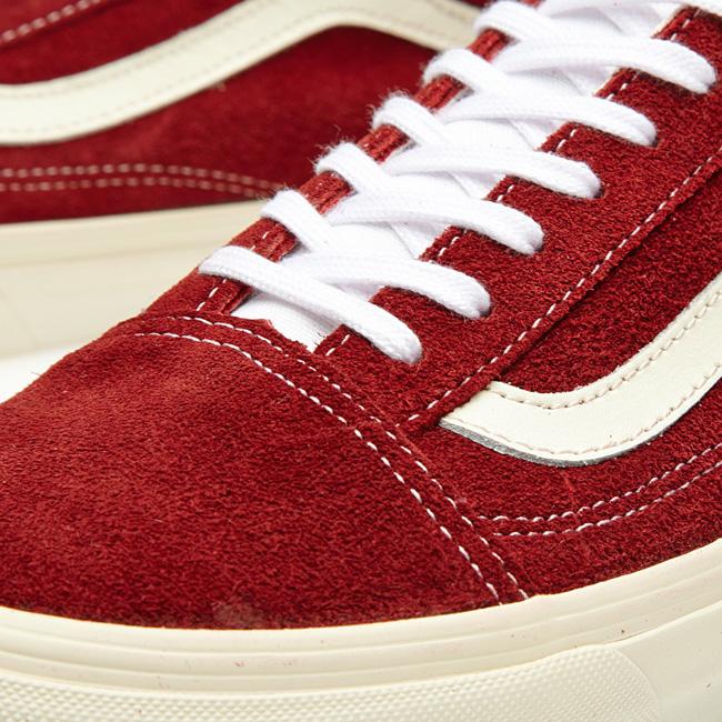 vans old skool vintage rio red