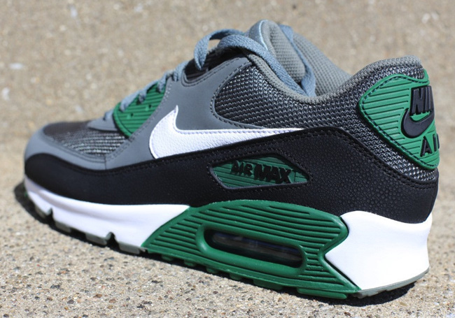 nike air max 90 essenziale mercurio grey & gorge verde ue calci