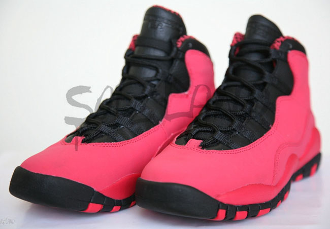low priced e424a a8c4b ... australia air jordan 10 retro gs pink black preview pictures 62147 0c88f