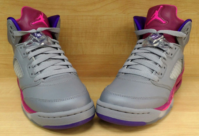 16a507505a9c ... uk retro 5 jordans gray and pink 77a7d f600c ...