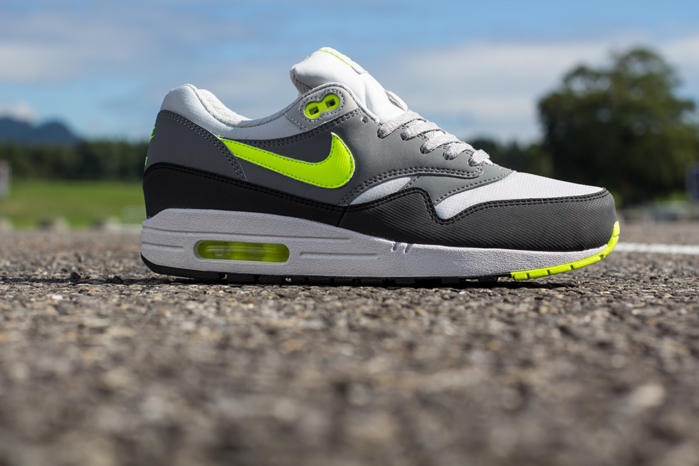 low cost best sale shades of reduced green yellow mens nike air max 1 essential shoes ...