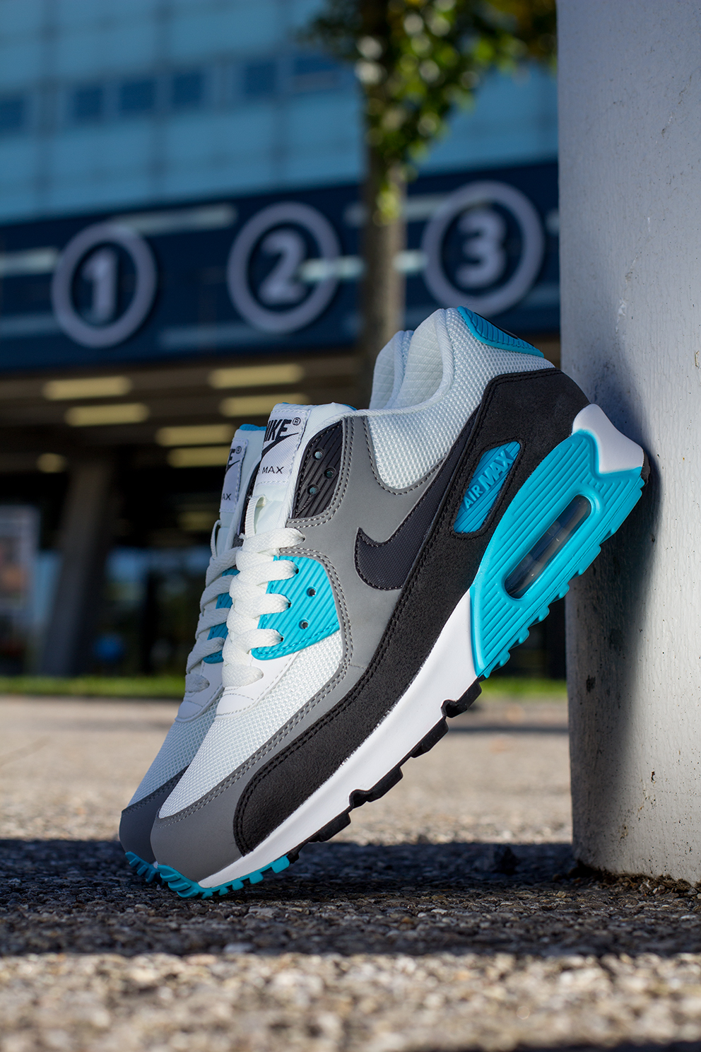 check out cb313 f7eee ... germany nike air max 90 essential white black grey blue 148a6 c38bc