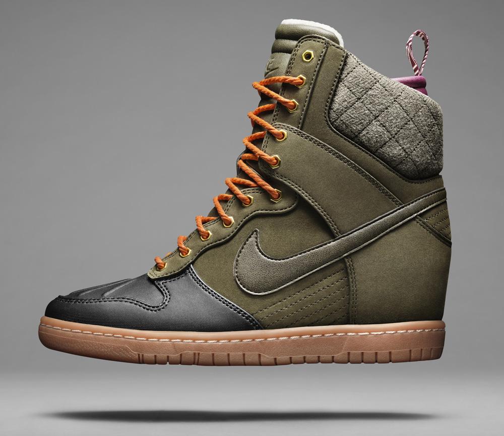 nike sky high dunk sneaker boots