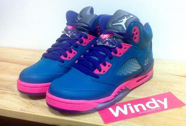 new styles 645b3 f4691 italy jordan 5 blue pink purple b5eec 75805