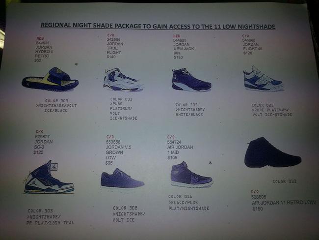 "f30e5f5d42f45f Jordan Brand ""Night Shade"" Pack 2014 Preview (Air Jordan 11 Low)"