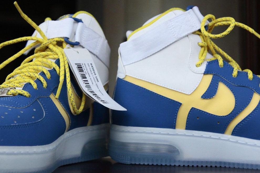nike air force di alto supremo cuciniamo (campione): scarpe da ginnastica unione calcio