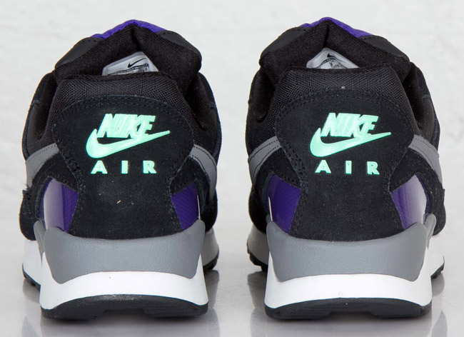 new arrival a37b5 10628 new style nike air pegasus 92 black clear grey electric purple green glow  ada5d a3e3a