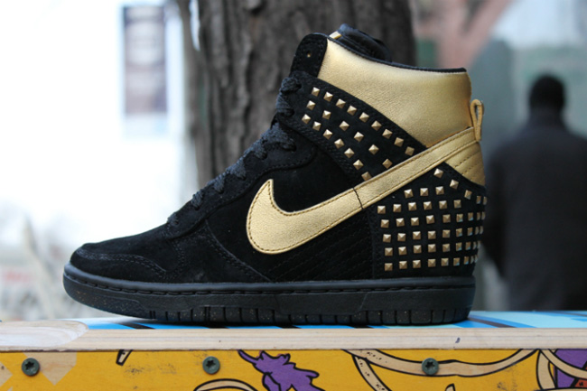 Black And Gold Wedge Nike Dunks  d59025a10
