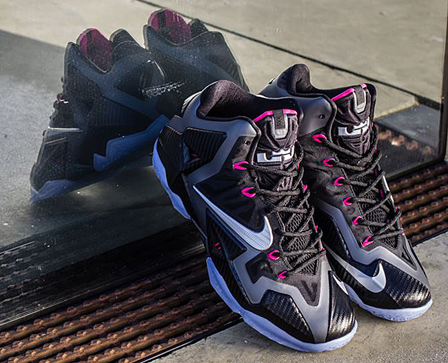 best cheap 398c3 50a7b ... discount code for lebron 11 miami nights black metallic silver pink foil  style 616175 fcf49 98005