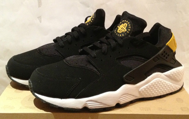 nike huarache yellow gold