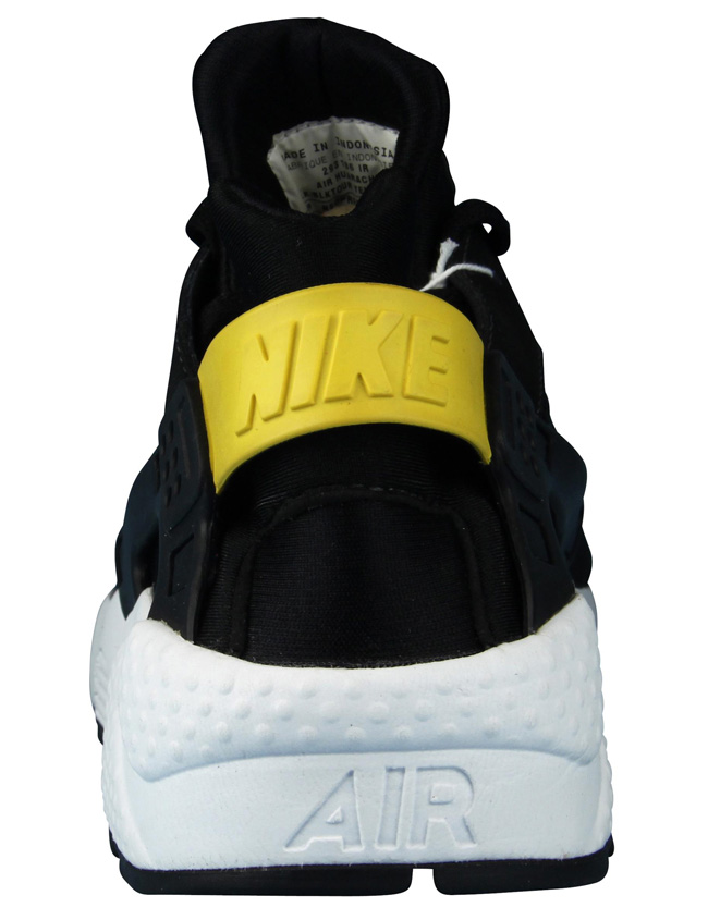 nike huarache black and yellow