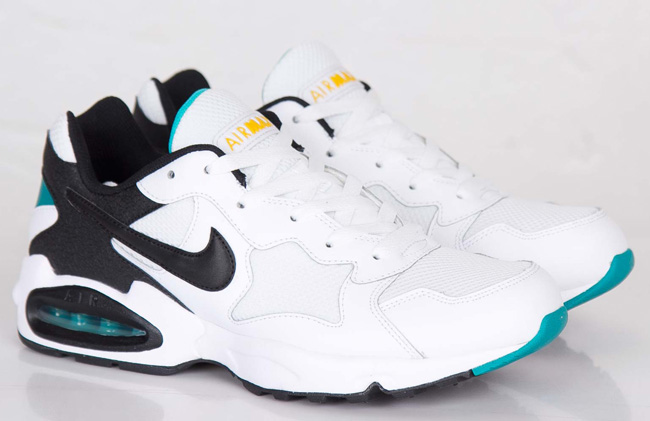 nike air max triax 94 white black turbo green
