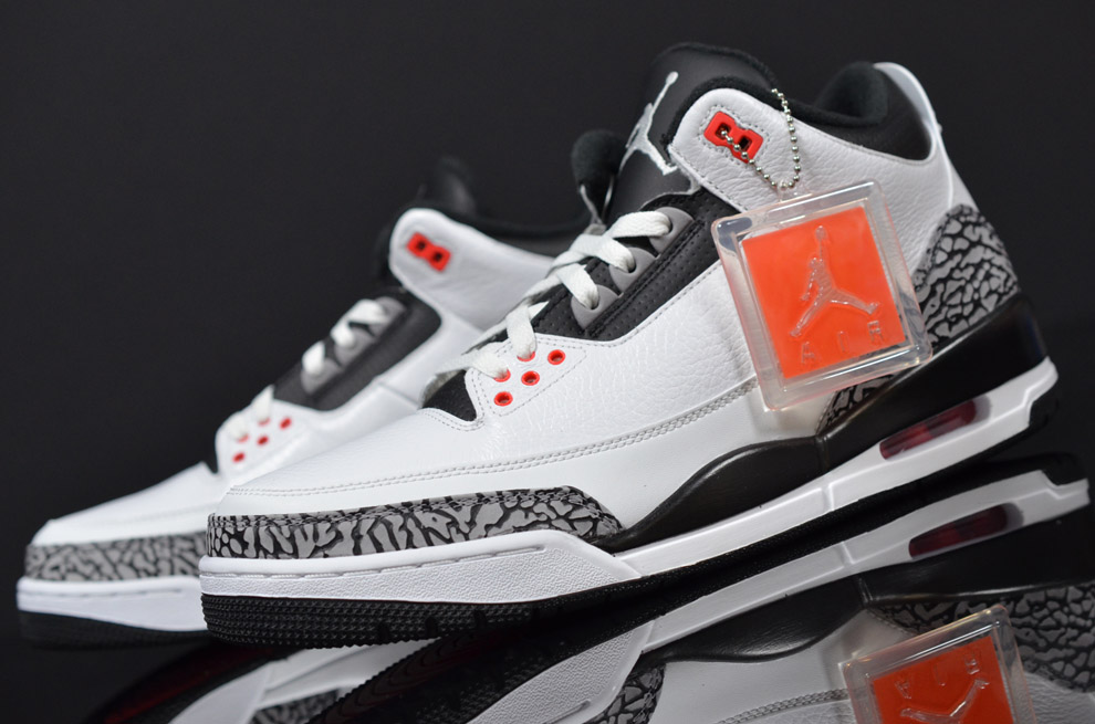 online retailer 3630c 5bbf9 ... new arrivals air jordan 3 retro white black cement grey infrared 23  style 136064. a