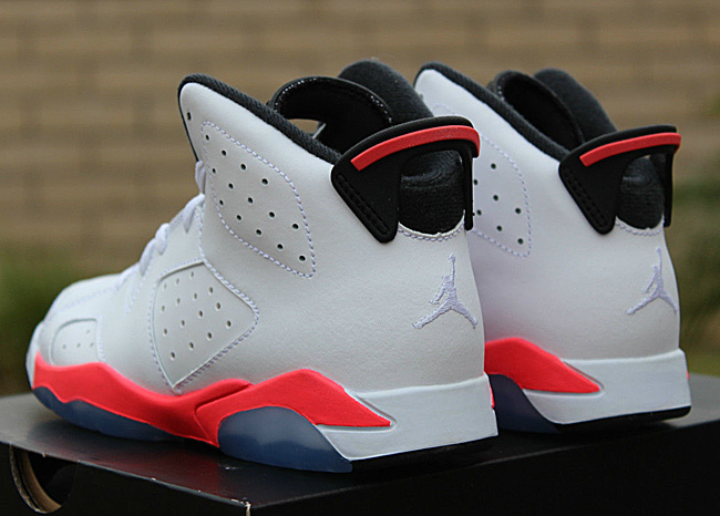 49fce880f423aa 2014 comparison 7ce5a 25e37  wholesale air jordan 6 ps pre school white  infrared 45cf6 1d0db