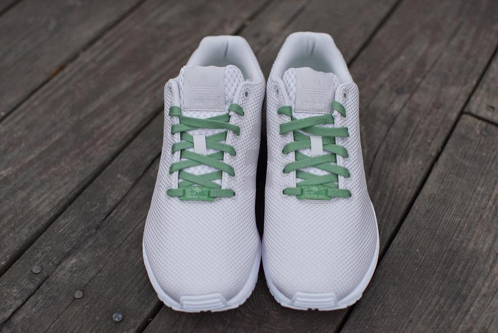 adidas zx flusso slalom (bianco, grigio e verde pisello) unione calcio: scarpe da ginnastica