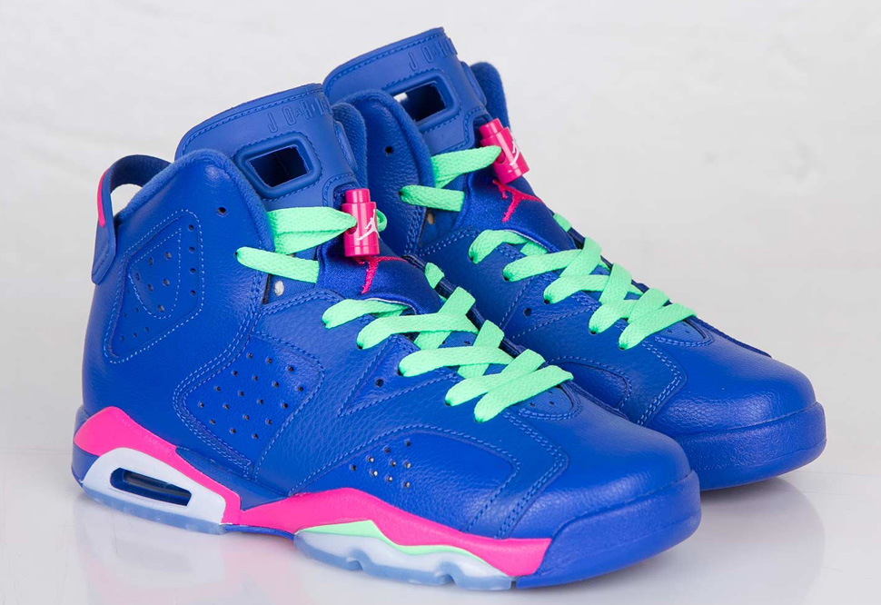 air jordans pink and blue