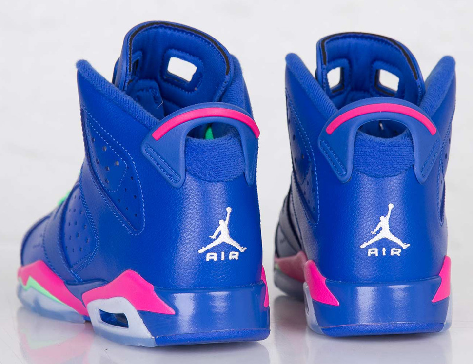 lowest price 370b7 f723d ... get air jordan 6 retro gs game royal vivid pink 70b33 e09e9