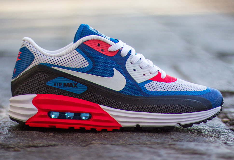 the best attitude 8e7f8 5c70a ... clearance preview nike air max 90 lunar c3.0 blue grey red 6c5b7 dfd29