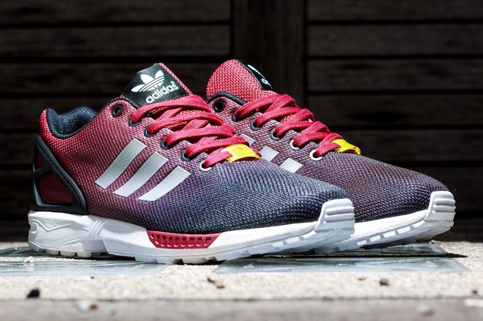 3b180daac9cff discount adidas originals zx flux reflective black silver red 39972 6d572   canada adidas zx flux âgradientâ pack detailed pictures wholesale outlet  0bb67 ...