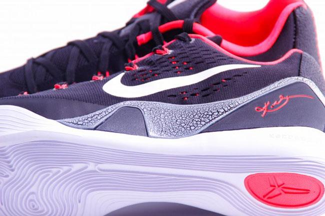 ee0421e0582 Nike Kobe 9 EM Black White-Laser Crimson-Wolf Grey Style  646701