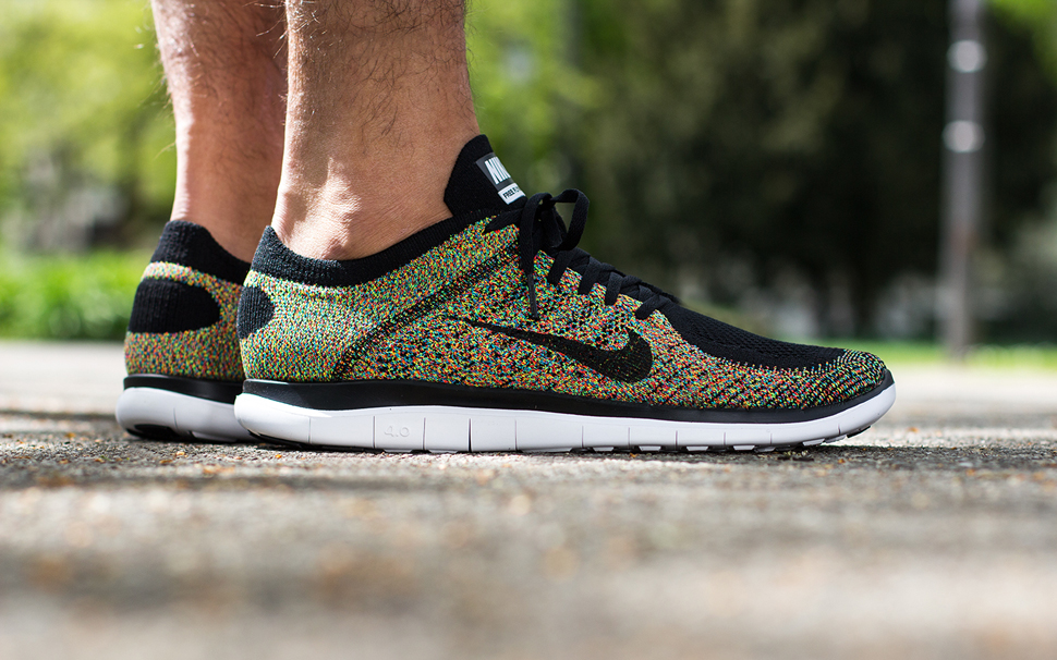 sports shoes ad481 6f778 ... On Feet Nike Free Flyknit 4.0 Multicolor ...