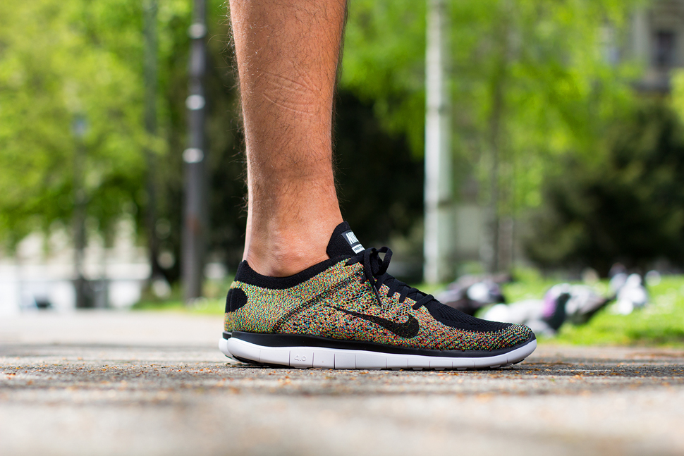 sports shoes 78252 bc413 ... On Feet Nike Free Flyknit 4.0 Multicolor ...