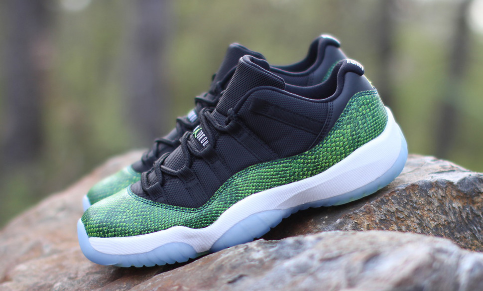 51fc3fb8d01 coupon code for releasing air jordan 11 retro low green snake nightshade  d1bac 88fb3