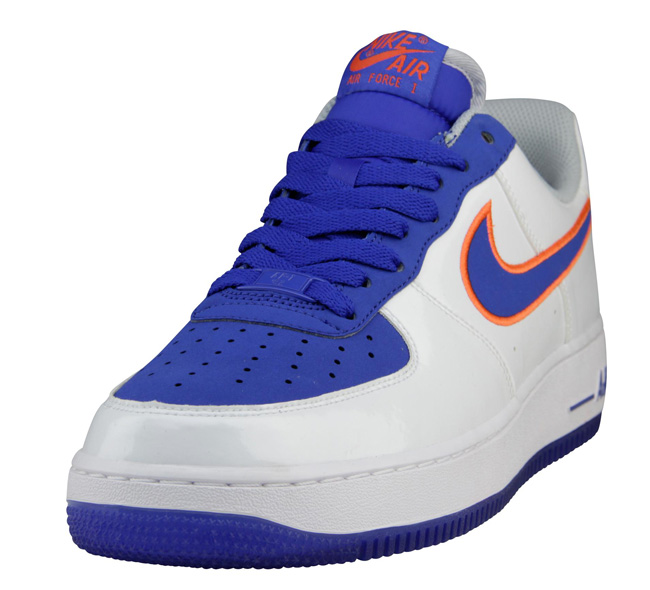 detailed pictures c7887 992e1 ... new york knicks colorways release info Nike Air Force 1 Low White, Game  Royal Turf Orange ...