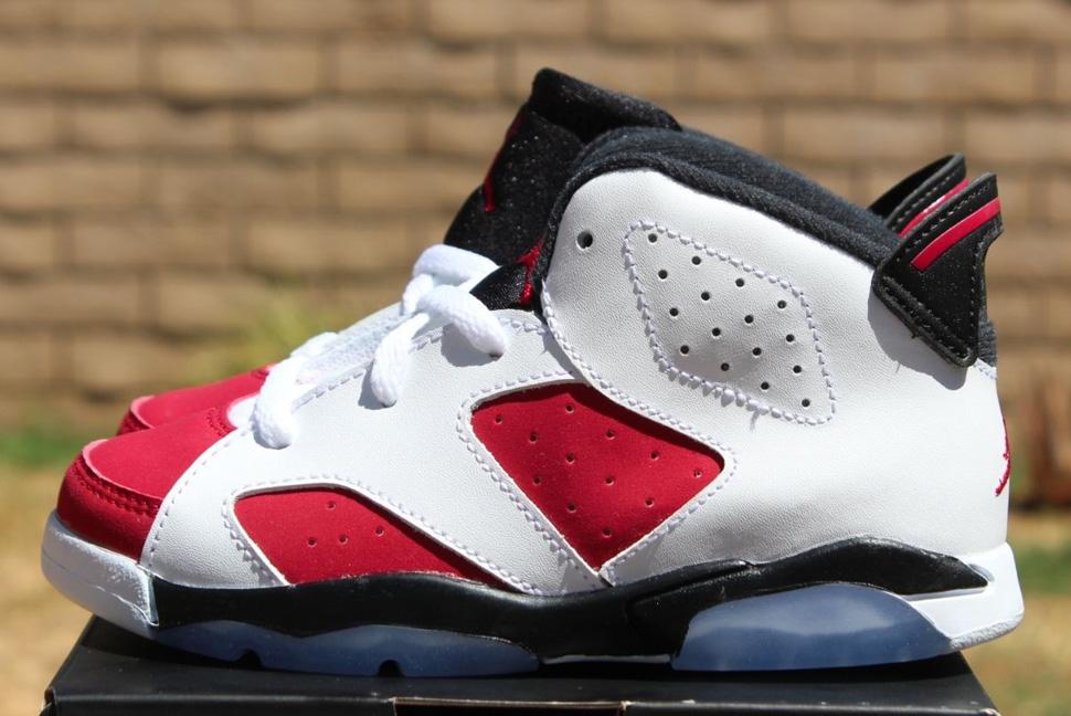 Taille De Lair Jordans 6 Garçons