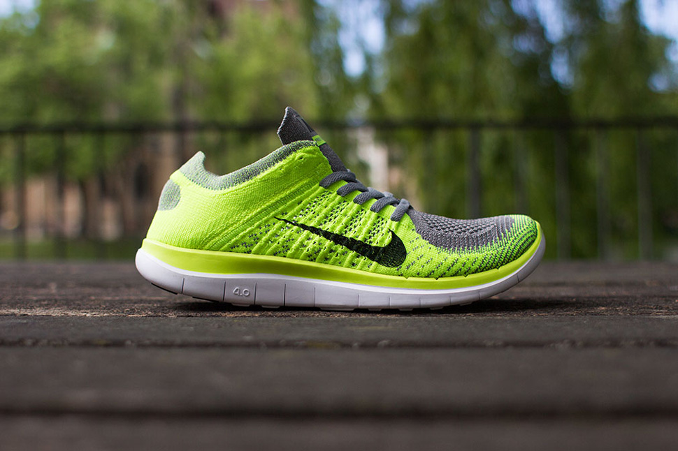 separation shoes 80b5e 2079b ... where to buy nike free 4.0 flyknit light charcoal volt 092af 22ac2