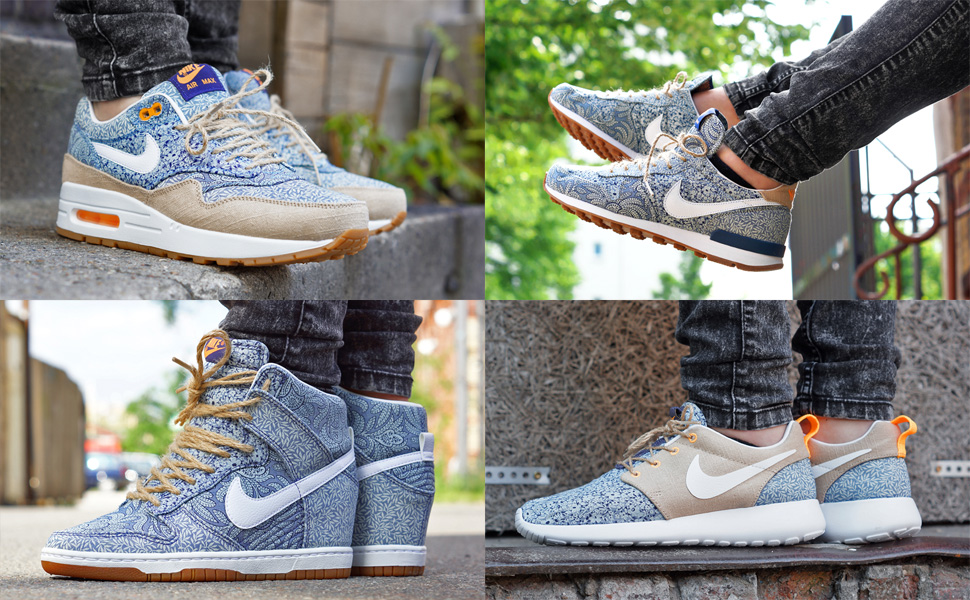 hot sale online 2c73b 5e8b5 denmark releasing liberty london x nike sportswear spring 2014 sneaker  collection e561c 1abf1